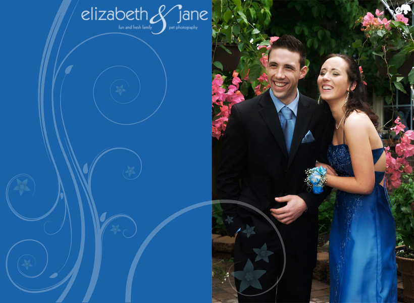 Pre Prom Couple in Blue