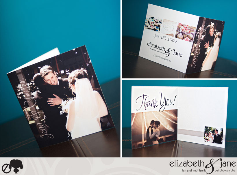 Complimentarty Custom Wedding Thank You Cards - Classic Large