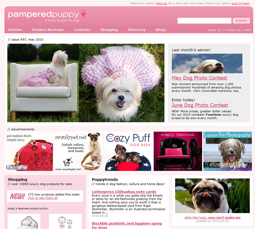 Pampered Puppy Dog Product Reviews