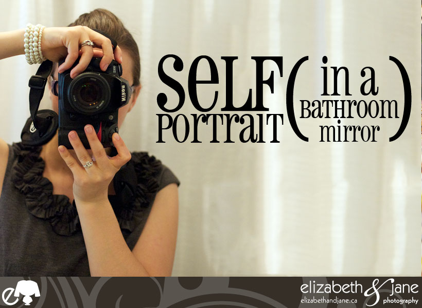Self Portrait in a bathroom mirror