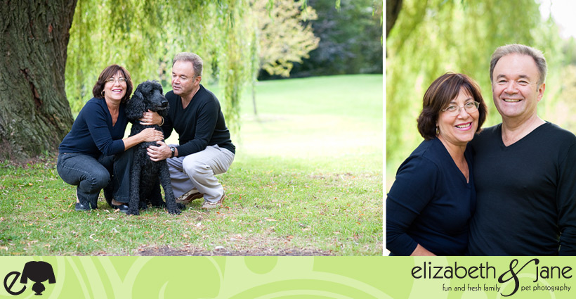 Family Photography: couple with their dog