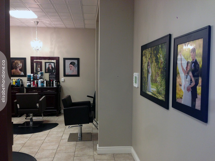 2Portraits by Liz Bradley of elizabeth&jane photography are hanging at Luxe Spa in Ottawa