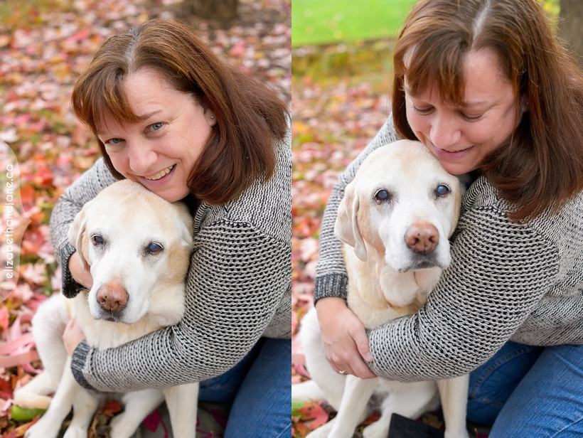 Virginia & Mickey the Dog photographed in Ottawa by Liz Bradley of elizabeth&jane photography
