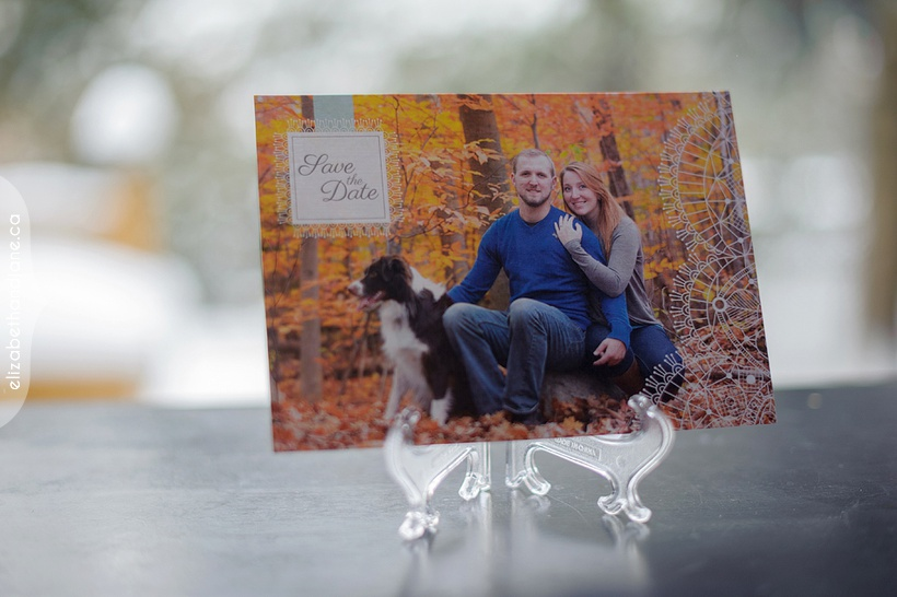 Stephanie & Kyle Engagement Products photographed in Ottawa by Liz Bradley of elizabeth&jane photography