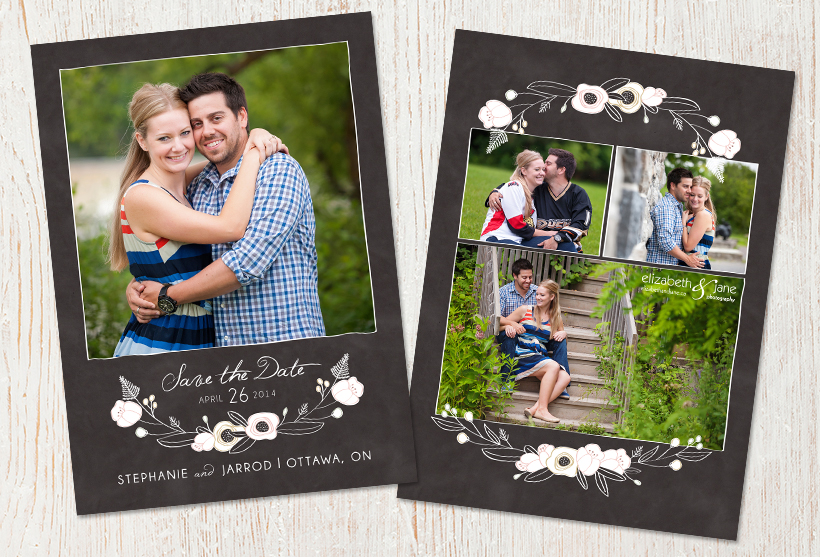 Stephanie and Jarrod's save the date photographed in Ottawa by Liz Bradley of elizabeth&jane photography
