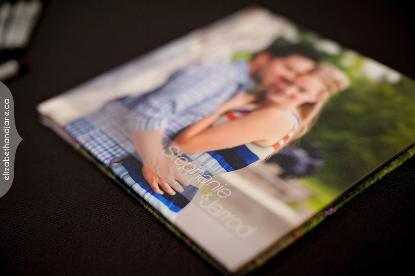 Stephanie and Jarrod's reception album photographed in Ottawa by Liz Bradley of elizabeth&jane photography