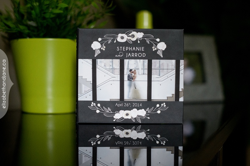 Stephanie and Jarrod's wedding products by Liz Bradley at elizabeth&jane photogoraphy