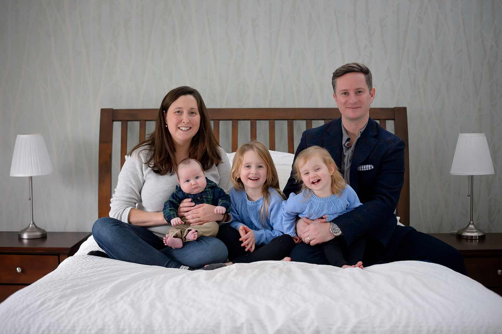 Baby Connor with his whole family in Ottawa, Ontario