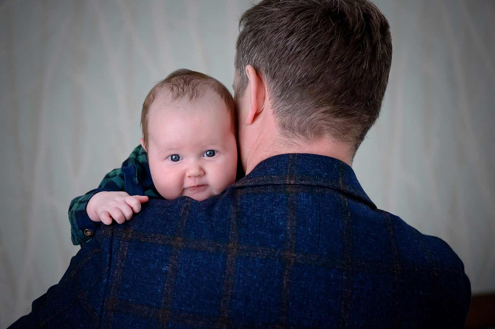 Baby Connor with his Dad in Ottawa, Ontario