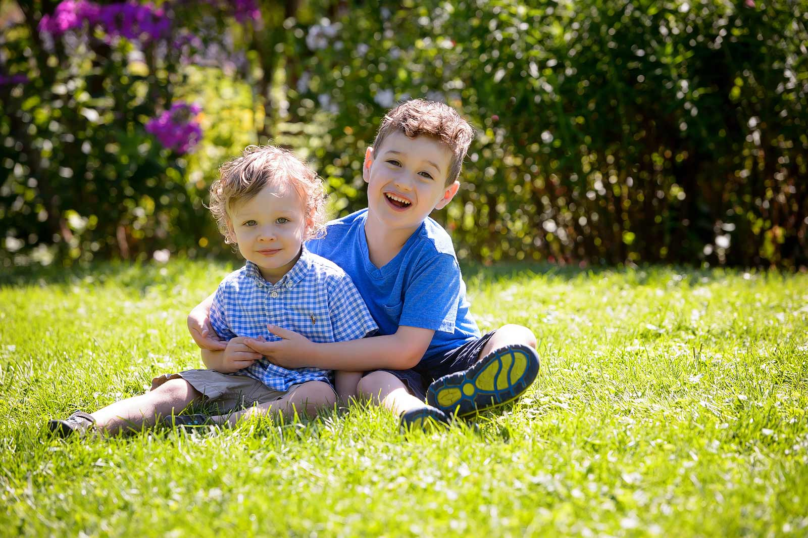 Brotherly love and hugs at Maplelawn Gardens in Ottawa