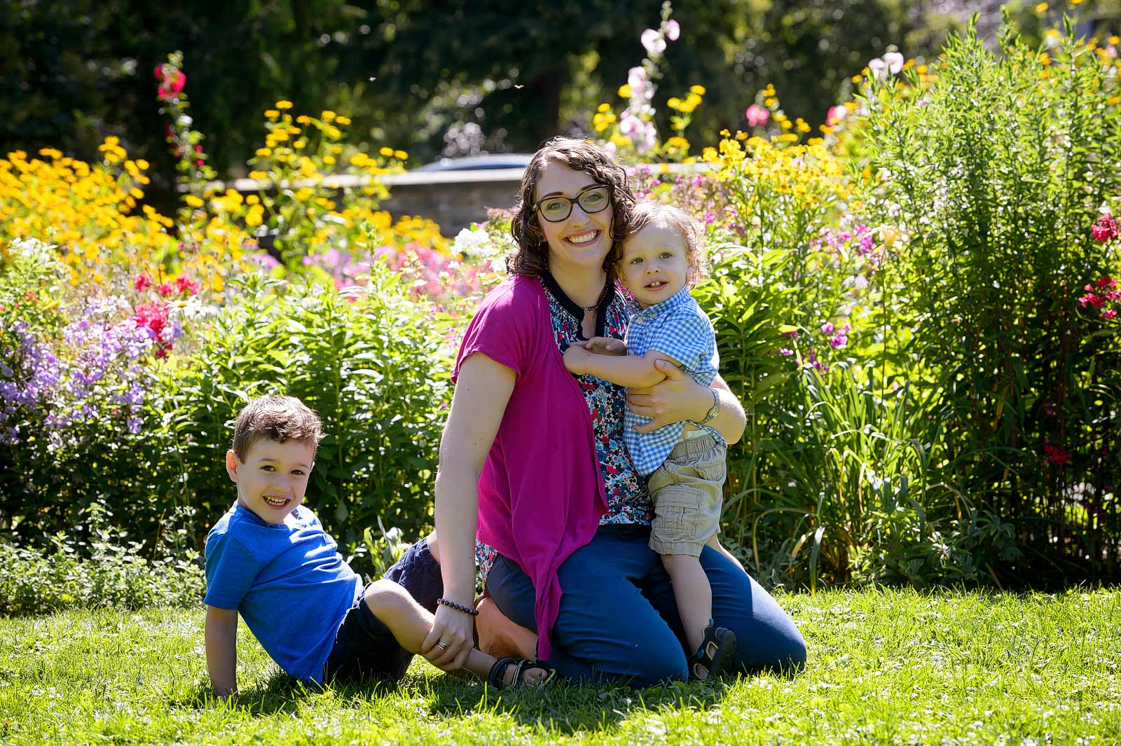 Portrait with Mom surrounded by beautiful gardens in Westboro