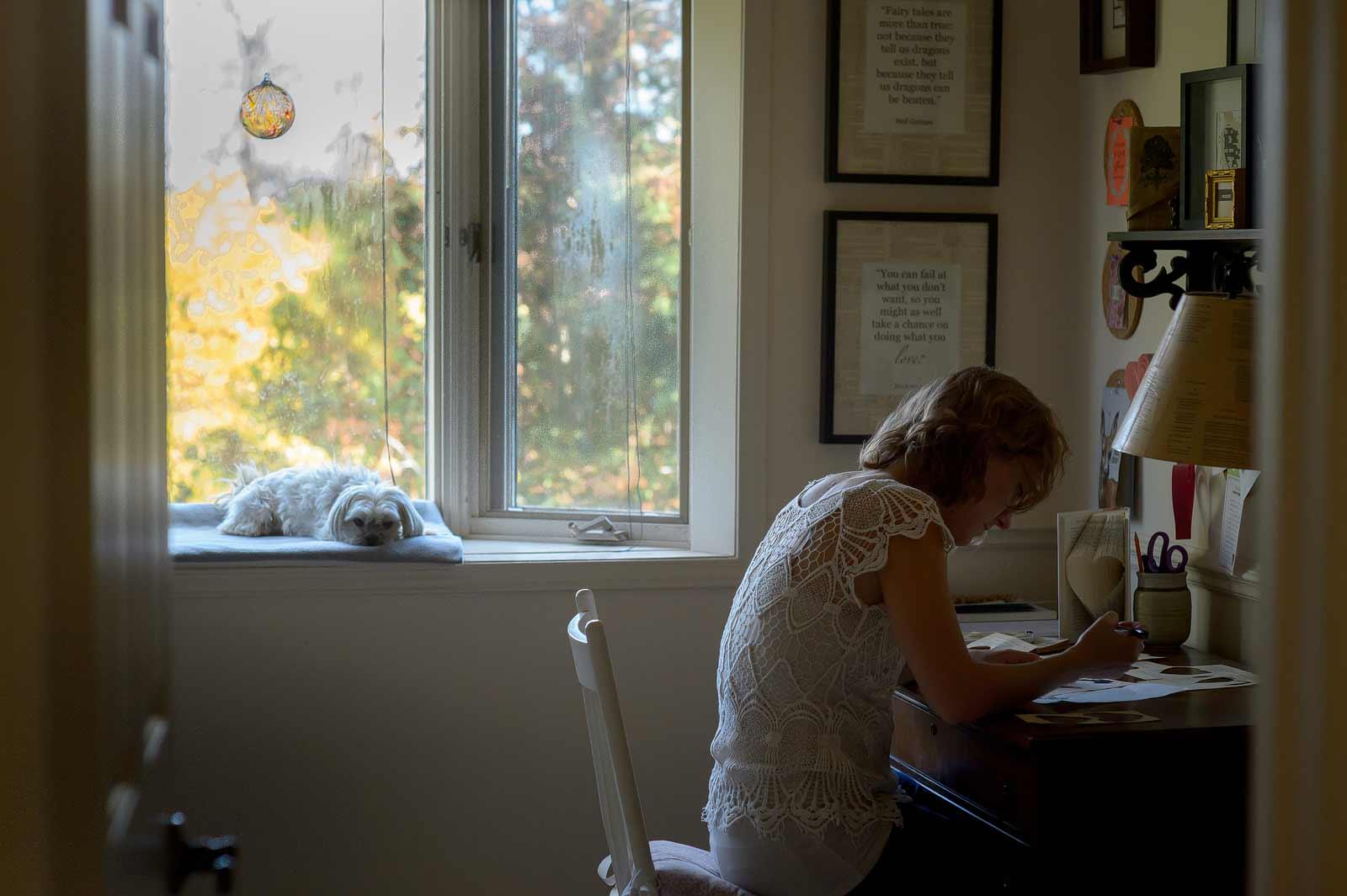 Jane's studio in Ottawa for Small Poetics