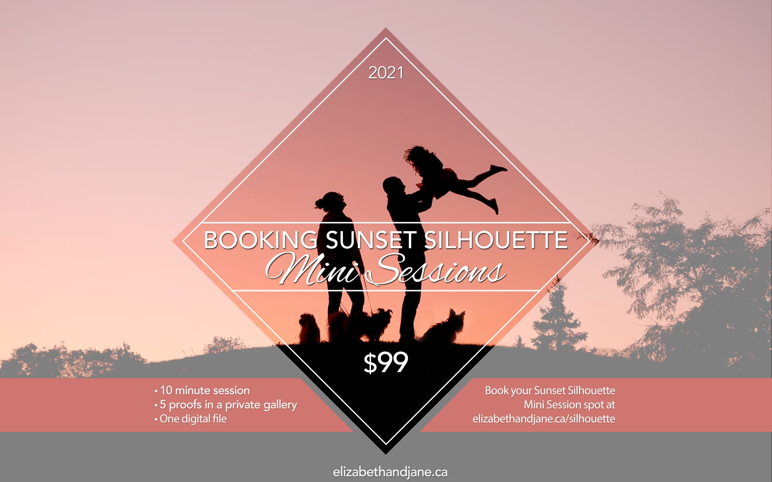 Book your Sunset Silhouette Mini Session today