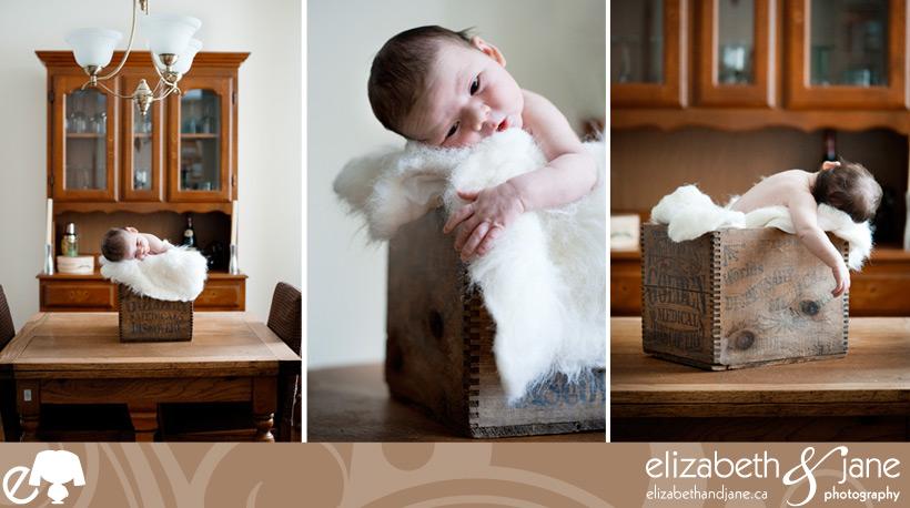 Newborn photography of the darling little baby boy Aidan in Ottawa
