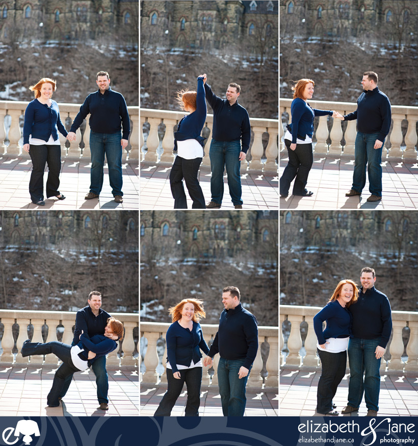 Engagement photography of the Sarah and Phil in downtown Ottawa