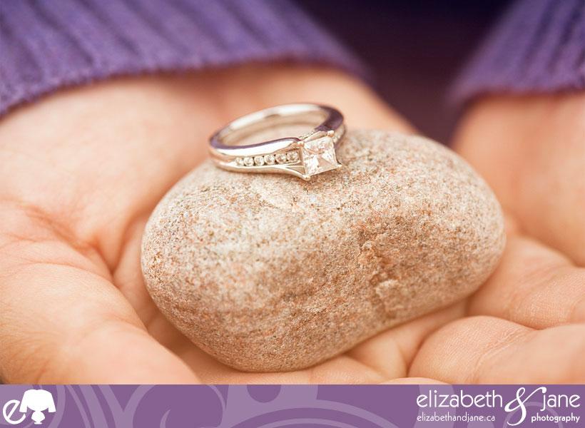 Engagement photo: engagement ring