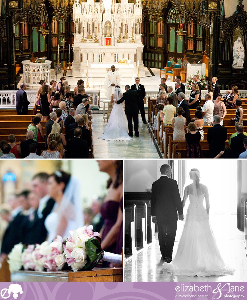 The wedding ceremony at St. Patrick's Bascillica in Ottawa